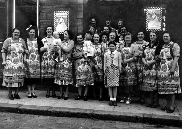 Coronation event: These ladies from Daw Green, Westtown, all of them no doubt members of St Paulinus Church, would have been among the ladies who ran the Bingo sessions in the church hall which my mother attended in the early 1950s. They are pictured outside the Star Hotel where they had put on a celebration for the Queen's Coronation in 1953. Rose Hodge, (fifth from left) was a helper.