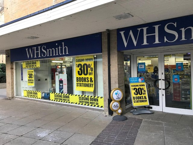 WH Smith in Dewsbury is closing
