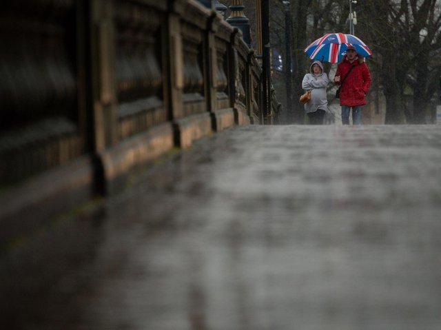 Weather warnings for rain and strong winds are in place in Yorkshire