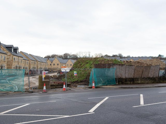 Proposed site of new Aldi store at former Cleckheaton Mills, Bradford Road, Cleckheaton