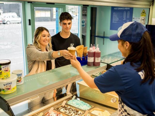 Dixons Milk Ices in Huddersfield before lockdown restrictions