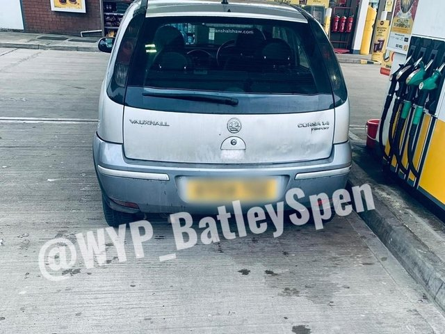 The driver was stopped in Batley (Picture West Yorkshire Police)