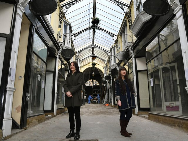 Sarah Barnes, left, and Natalie Liddle from The Arcade Dewsbury Steering Group