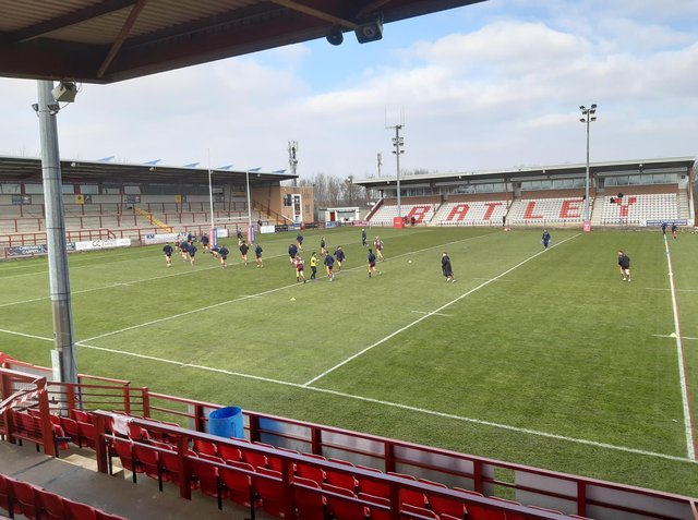Rugby league is back at Fox's Biscuits Stadium. Picture by Peter Smith