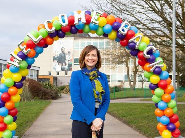 Head teacher Samantha Vickers at Upper Batley High School, Batley