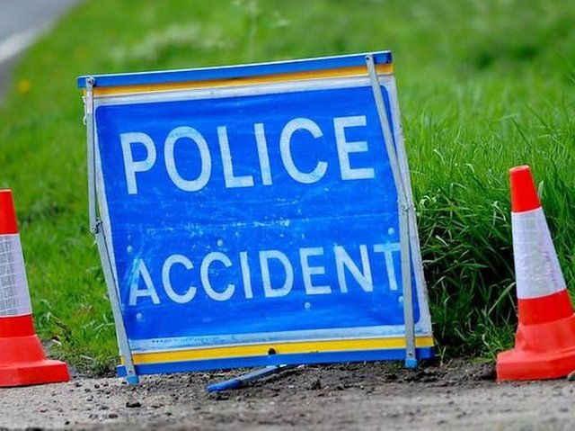 The two car crash happened in Cleckheaton