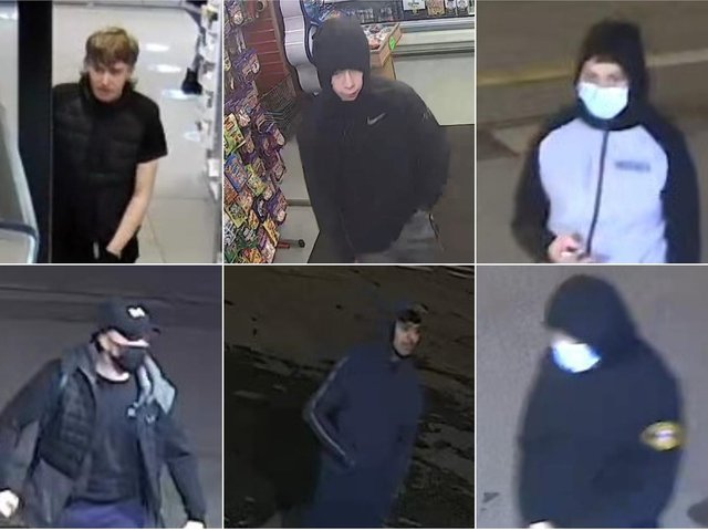 CCTV images have been released of suspects involved in the robbery