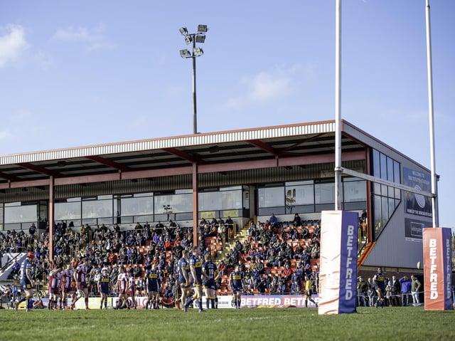 The Tetley's Stadium, Dewsbury.