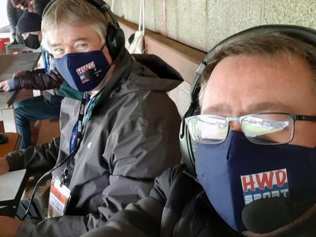 HWD Hospital Radio rugby commentators Martin Sharpe (left) and Rob Farrar