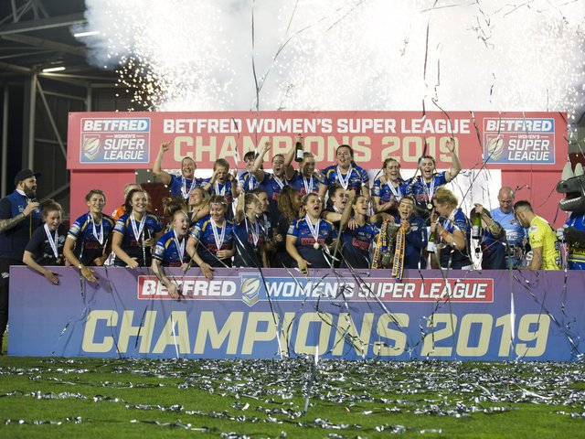 Women's Super League has been on hold since Leeds Rhinos' title in in 2019, but will return next month. Picture by Isabel Pearce/SWpix.com.