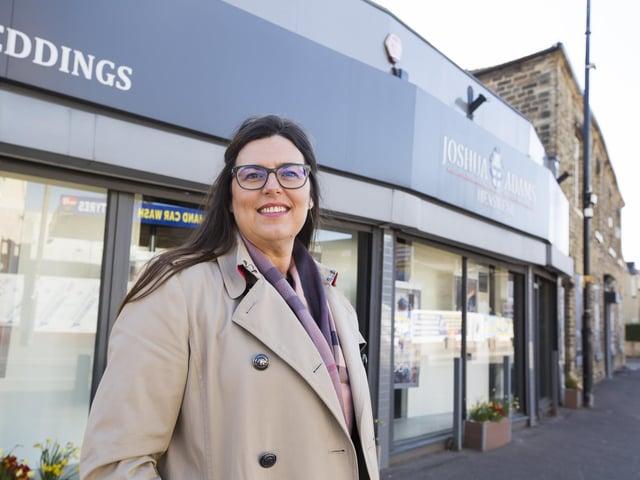 Stephanie Norris, owner of Joshua Adams Menswear, Cleckheaton.