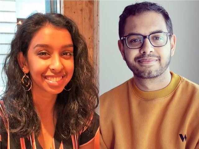 Henna Ravjibhai (left) and Adeel Amini