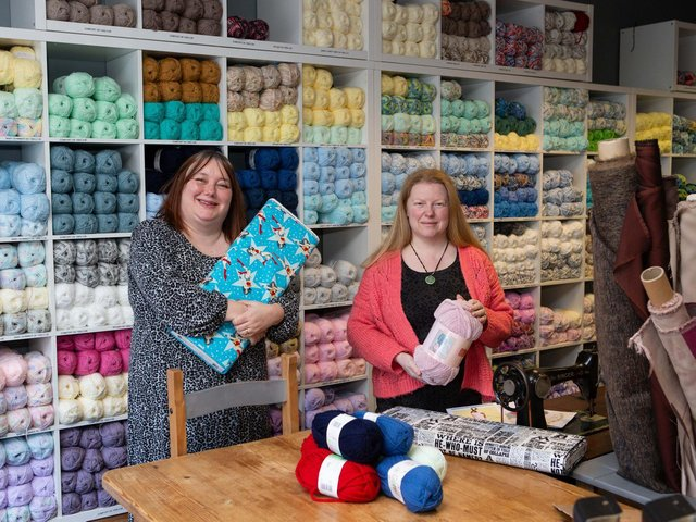 Jenny Holden-Stokes and Gini Armitage at Creative Craft Centre, Dewsbury