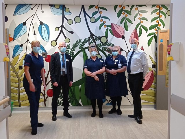 The new Stroke Neuro Rehab Ward at Dewsbury and District Hospital