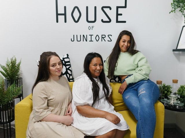 From left to right: Kamilla Ogrodnik, Natasha Formoy and Chantelle Etienne of House of Juniors