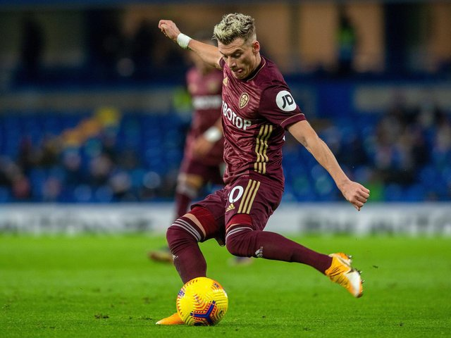 Ezgjan Alioski, who conceded a penalty in Leeds United's loss at Brighton.