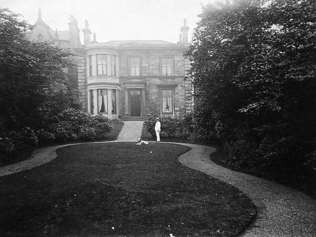 AUSTIN FRIARS: James Austin, who founded James Austin and Sons Limited, Thornhill Lees in the 1850s, stands proudly in front of the house he named after himself.