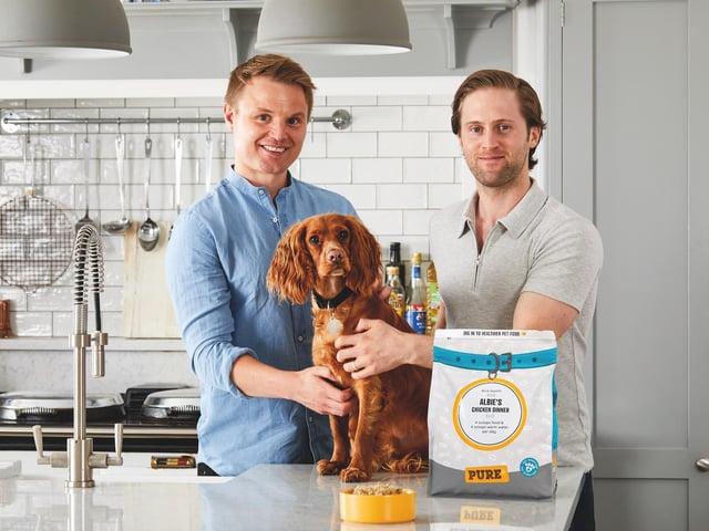 Mathew Cockroft, left and Daniel Valdur Eha, founders of Cleckheaton-based company Pure Pet Food