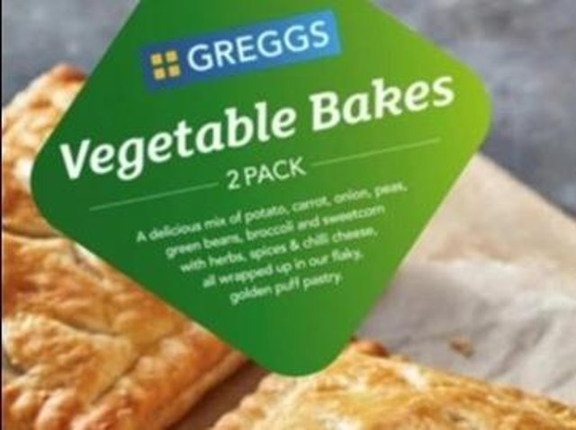 Greggs is recalling its vegetable bakes from supermarket Icelend over fears they contain small pieces of green glass.