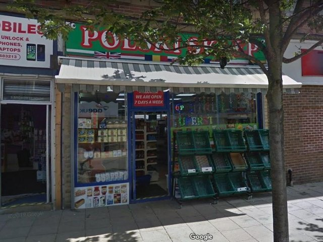A street view of the Polski Sklep shop in Dewsbury, which has lost its licence to sell alcohol (image: West Yorkshire Trading Standards)