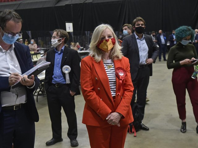 Tracy Brabin, the new Mayor of West Yorkshire, at the vote count in Leeds on Sunday. Photo by Steve Riding