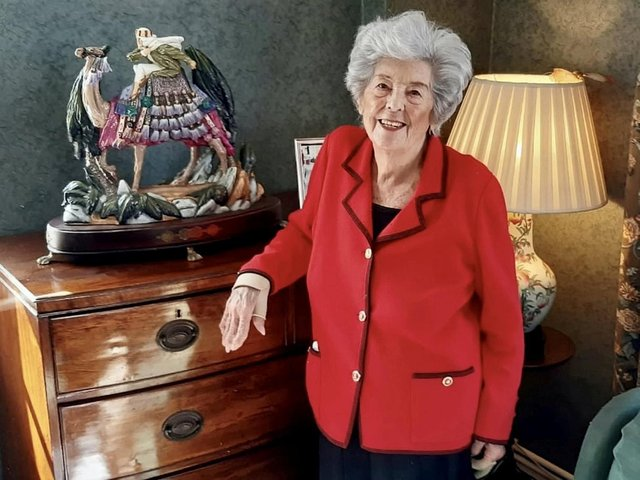 Baroness Betty Boothroyd with her Lawrence of Arabia ornament, one of many items to be auctioned.