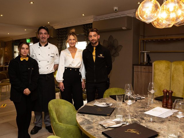 The team at Capri Italian restaurant, Old Bank Road, Mirfield, ready to welcome customers indoors again from May 17