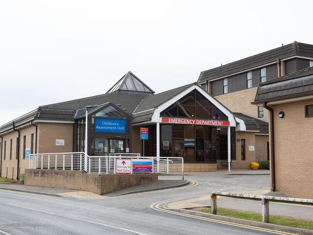 The A&E department at Dewsbury and District Hospital