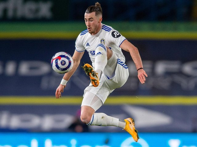 Jack Harrison, who scored one goal and had two assists in Leeds United's 4-0 win over Burnley.