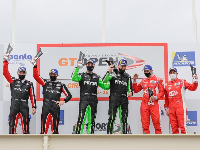 Inception drivers celebrate their one-two finish at Paul Ricard.