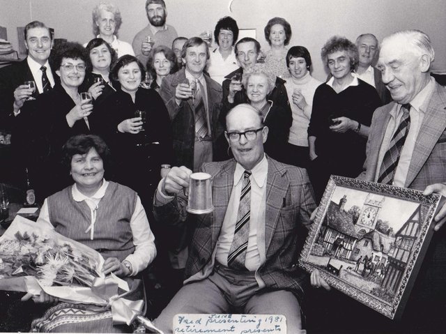 DEWSBURY SPORTS CENTRE: Retirement presentation to Bill Morris in 1981