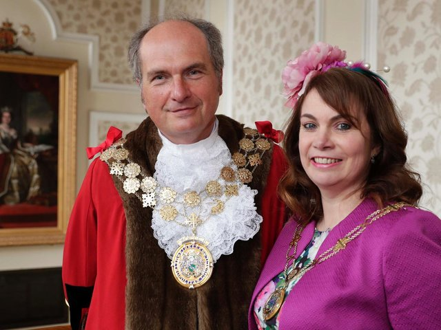 Nigel and Judith Patrick, who will be the Mayor and Mayoress of Kirklees in 2021-22
