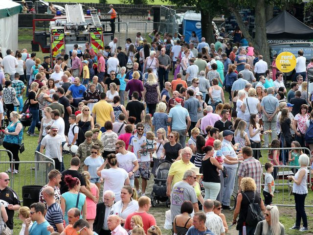Crowds at a previous Mirfield Agricultural Show