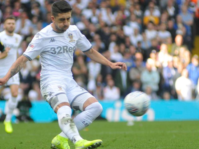 Pablo Hernandez, who was given a rousing send off in his last Leeds United game.