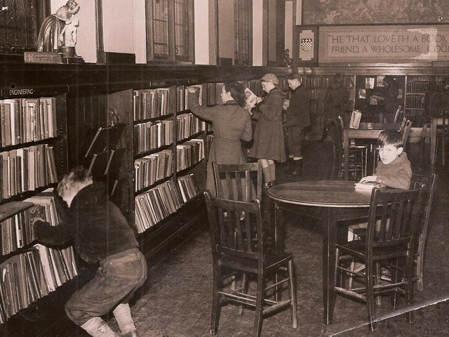 The junior library in Dewsbury's old public library in Wellington Road