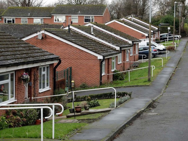 Bankfield Court in Mirfield, where elderly residents have been plagued by anti-social behaviour including arson.
