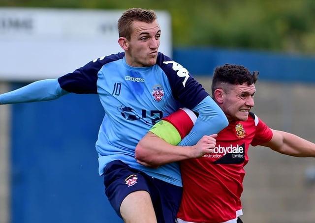 Liversedge goal scorer Oliver Fearon.