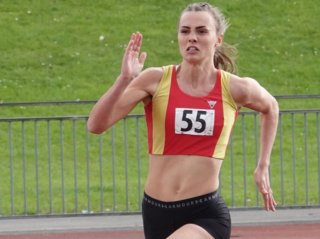 Spenborough runner Holly Martin, who performed well in the first Northern League meeting of the year.