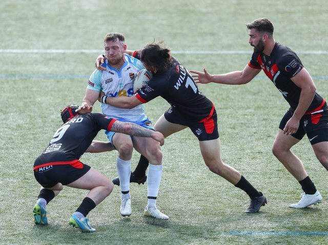 Action from Dewsbury Rams' defeat to London Broncos on Sunday afternoon. Picture: Getty Images.