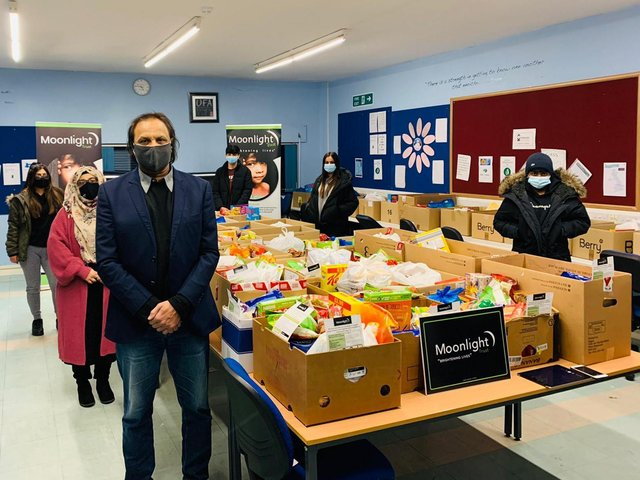 The Moonlight Trust in Dewsbury has been delivering and distributing food parcels and essential supplies to families and individuals in North Kirklees since the start of the pandemic