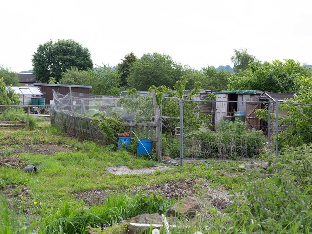 Allotment plots off Lees Hall Road, close to nearby Ravenshall School, are being taken to create access for a major new housing plan