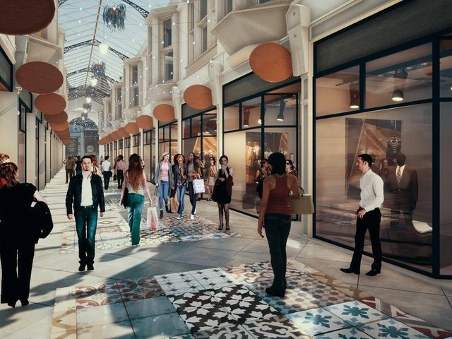 An artist's impression of how the revamped Dewsbury Arcade could look when restoration work is finished