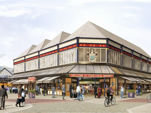 An artist's impression of the revamped Dewsbury Market, which is estimated to cost £6.6m