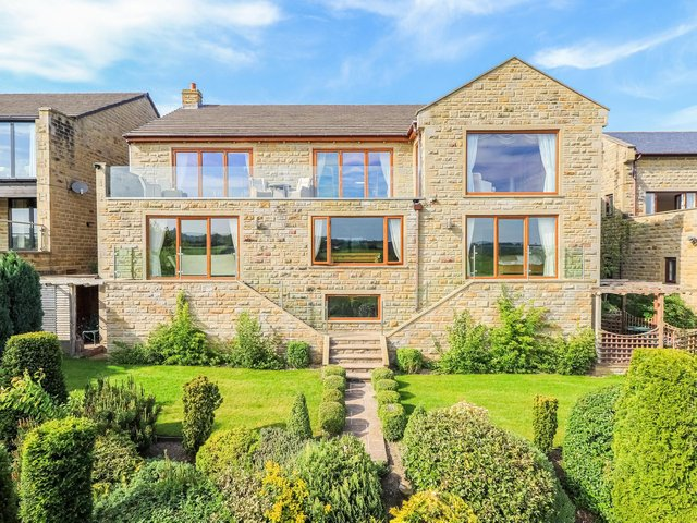 Front view of the high spec home that is on the market for £995,000.