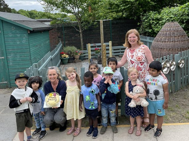 Children's Place Day Nursery, in the grounds of Dewsbury and District Hospital, has celebrated its 30th anniversary by opening a Peace Garden