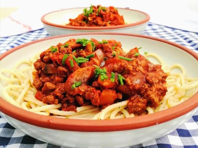 Karen's vegan spaghetti bolognese