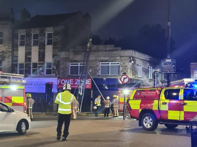 Fire crews were called to Market Place, Heckmondwike following reports of a fire in a flat above some shops