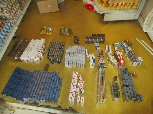 Some the items seized from Biedronka, 490 Huddersfield Road, Dewsbury by Trading Standards officers