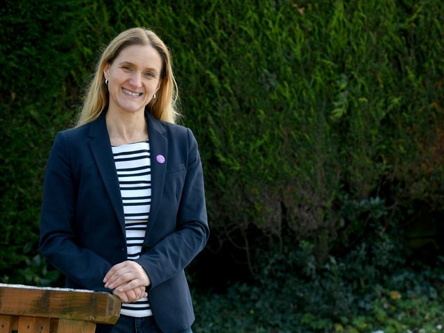 Kim Leadbeater, Labour's candidate in the Batley and Spen by-election