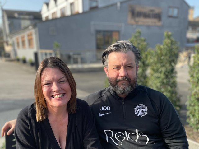 Sarah and Jamie O'Donnell at the Navigation Tavern in Mirfield
